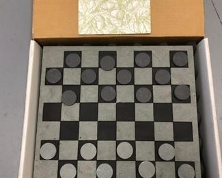 Charleston Gardens Slate Checkerboard game. New in box.