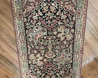 Antique rug, part silk, England. Professionally cleaned.