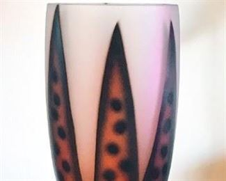 Handpainted Glass Goblet