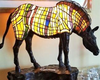 Tiffany style Multi Color Zebra Light