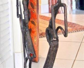 Cire Perdue Bronze Ashanti-Style Statue - Yacouba Zoundi