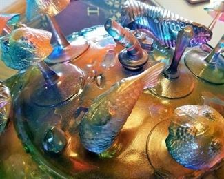 Art Glass. Whimsical Bowl with Lid