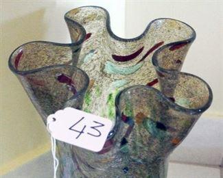 Tulip Freeform Glass Vase