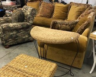This is a great sectional! Perfect for family movie night! 2 matching recliners too! Add in a few side tables and benches and you are set!