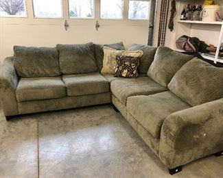The perfect sectional for the lake house or kids game area. Not in perfect condition but lots of life left and a GREAT price!