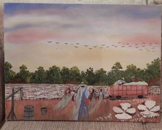 Original Oil Painting by Folk Artist David Maple