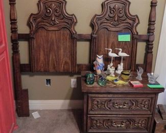 Full-size Headboard with Matching Night Stand.