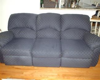 "Sofa with two recliners 85"" W x 41"" D x 38"" H"