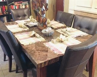 gorgeous dining room set hardly used and oh so reasonable