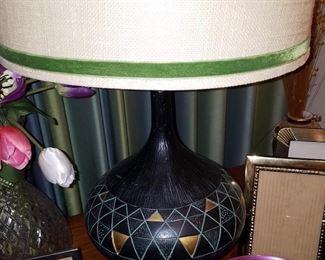 Many Mid Century lamps  custom shades