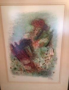 Reuven Rubins. Original Lithograph