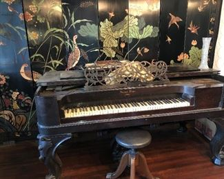 19TH CENTURY ROSEWOOD SQUARE GRAND PIANO