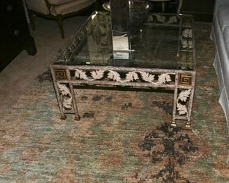 WONDERFUL IRON AND GLASS COFFEE TABLE