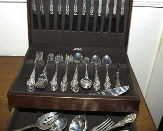 """STERLING - WALLACE """"GRAND VICTORIAN"""" SERVICE FOR 12 (5 PC PL. SETTING) + SERVING"""