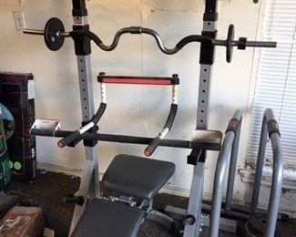 Bench weight set