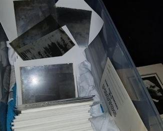 box full of old glass slides