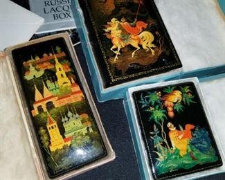 vintage Russian fairytale boxes