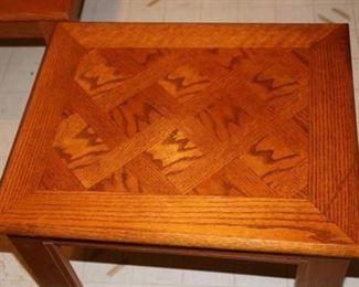 Parquet top living room tables