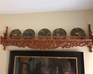 Great Hand Carved Plate Rail by Scandinavian  Carver from Alexandria MN