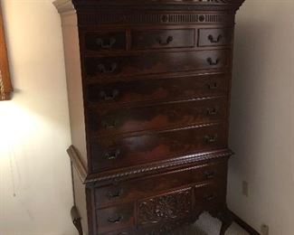 Quality Chippendale Highboy