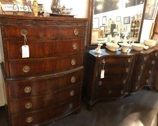 Union Furniture Dresser and highboy, mirror
