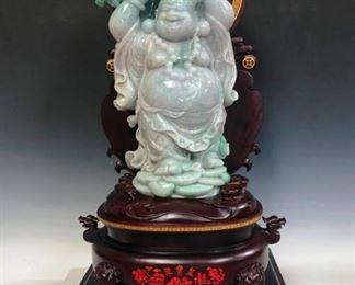 Lot 905 Jadeite Standing Buddha.