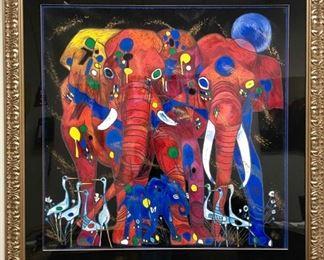 Lot150 Jiang Elephant Family