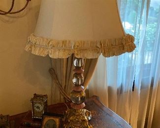 Crystal & Quartz Rococo style table lamp