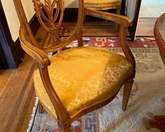 Set of 12 Hepplewhite Dining Chairs w Shield Backs