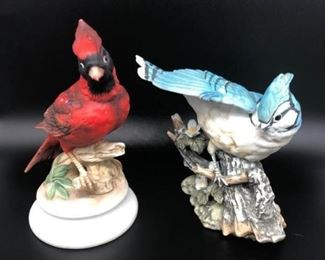 Masterpiece Porcelain HOMCO 1985 Blue Jay and Cardinal