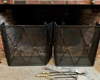 Great big fireplace screens