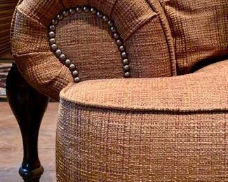 Nailhead trim detail for Fairfield sofa.