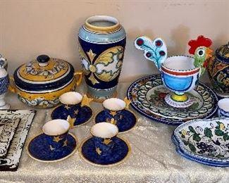 Assorted colorful ceramics!