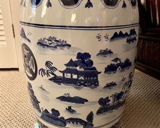 Asian inspired garden stool (2)