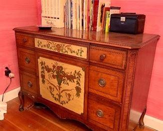 Antique hand painted dresser