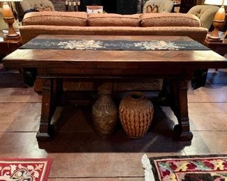 Antique English Trestle Table - extends to GIANT Size!