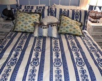 Versace Linens! White Iron Bed - Queen