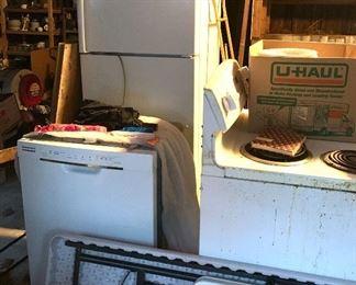 Fridge, dishwasher and stove