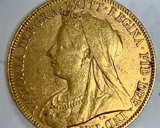 1900 Old Head Victoria Gold Full Sovereign