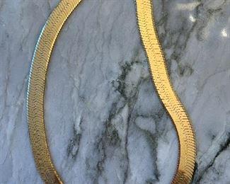 14 K Gold Herringbone Chain