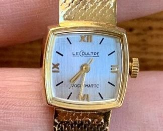 LeCoultre Gold Watch, working