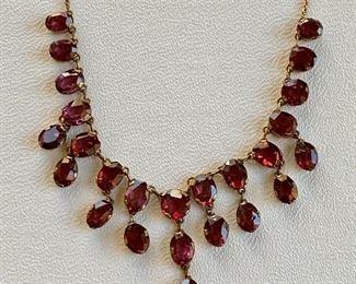 Garnet vintage necklace