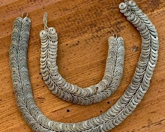 Silver Choker and matching bracelet