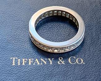 Tiffany Platinum Full Eternity Engagement Ring