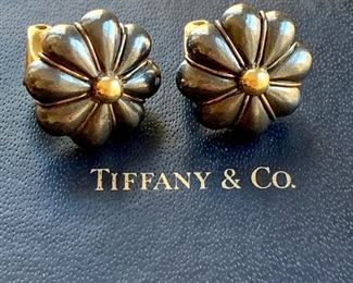 Tiffany 14K and Hematite Earrings