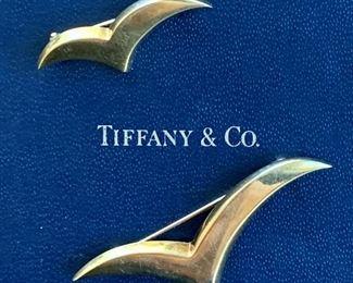 Tiffany Gold Seagull Pins