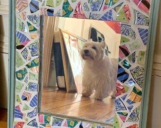 Mosaic Mirror! Hi Puppy!