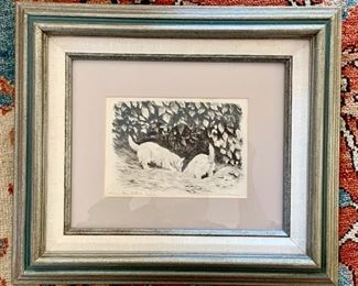 Marguerite Kirmse, CT - Etching - Down the Rabbit Hole