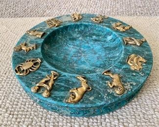 Vintage Zodiac Ashtray