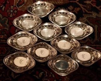 Sterling nut dishes